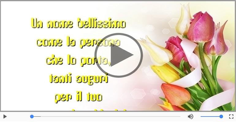 Cartoline musicali di onomastico - Tanti auguri di Buon Onomastico, Maria!