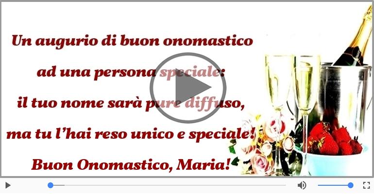 Cartoline musicali di onomastico - Buon Onomastico, Maria!