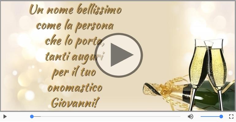 Cartoline musicali di onomastico - Buon onomastico, Giovanni!