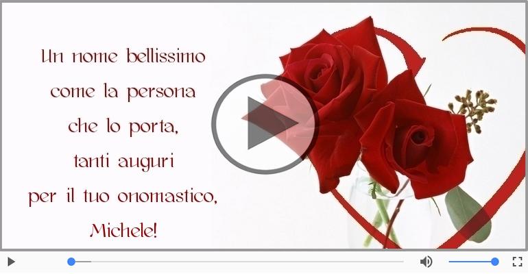 Cartoline musicali di onomastico - Buon onomastico, Michele!