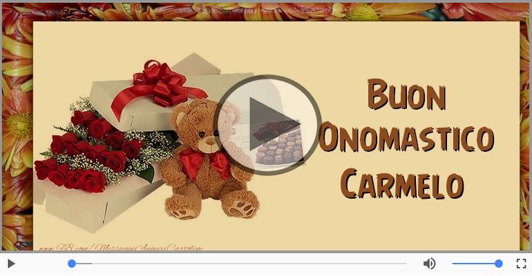 Cartoline musicali di onomastico - Buon Onomastico Carmelo!