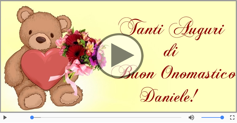 Cartoline musicali di onomastico - Auguri Daniele! Buon Onomastico!
