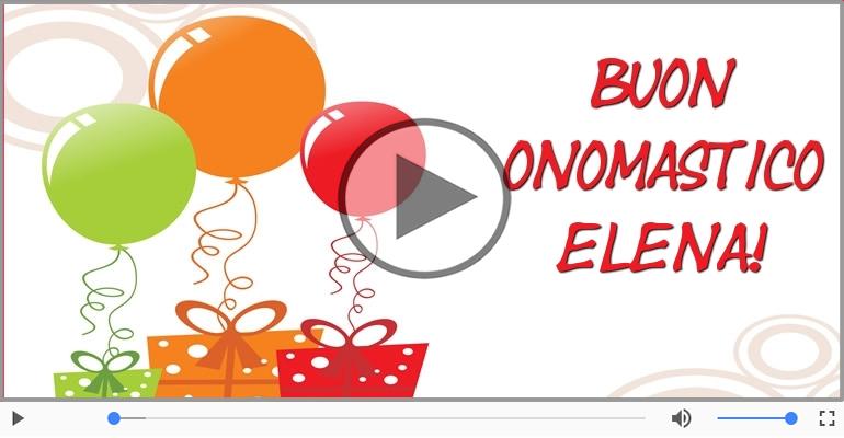 Cartoline musicali di onomastico - Buon Onomastico Elena!