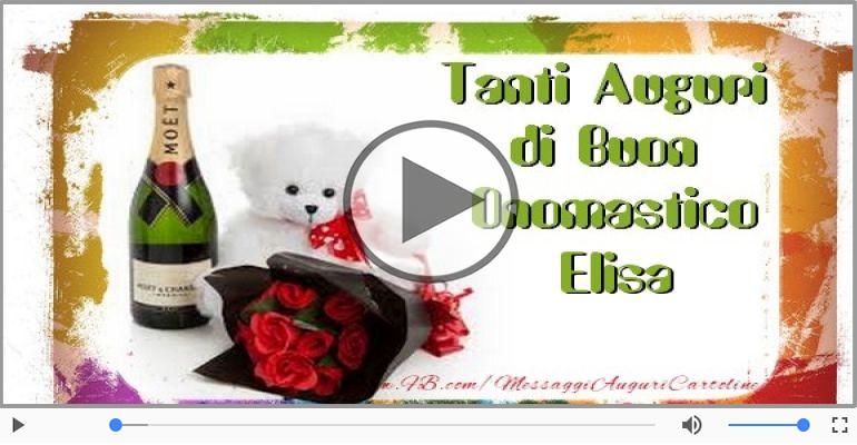 Cartoline musicali di onomastico - Auguri Elisa! Buon Onomastico!