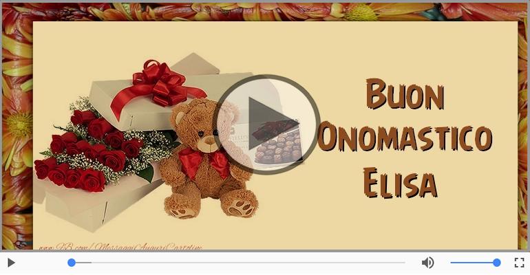 Cartoline musicali di onomastico - Tantissimi Auguri di Buon Onomastico Elisa!