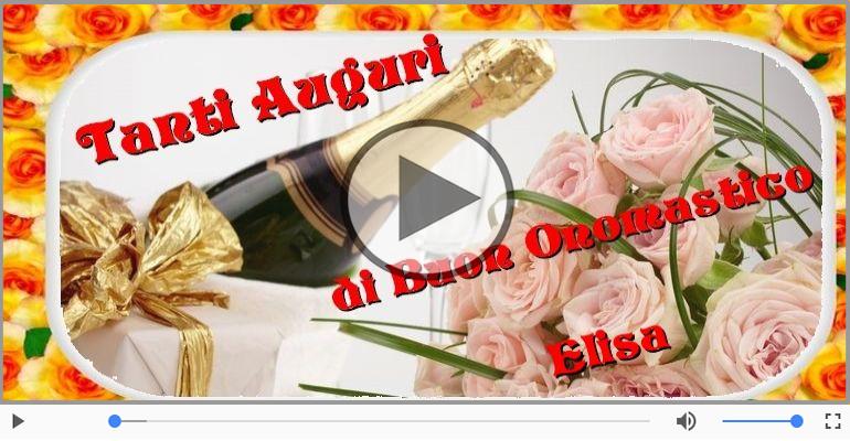 Cartoline musicali di onomastico - Buon Onomastico Elisa!