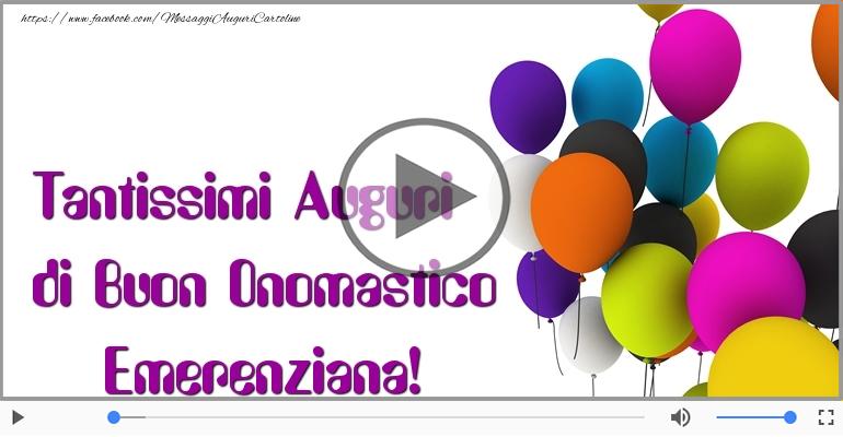Cartoline musicali di onomastico - Buon Onomastico Emerenziana!