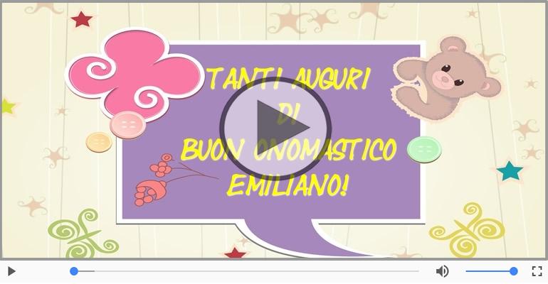 Cartoline musicali di onomastico - Tanti auguri di Buon Onomastico Emiliano!