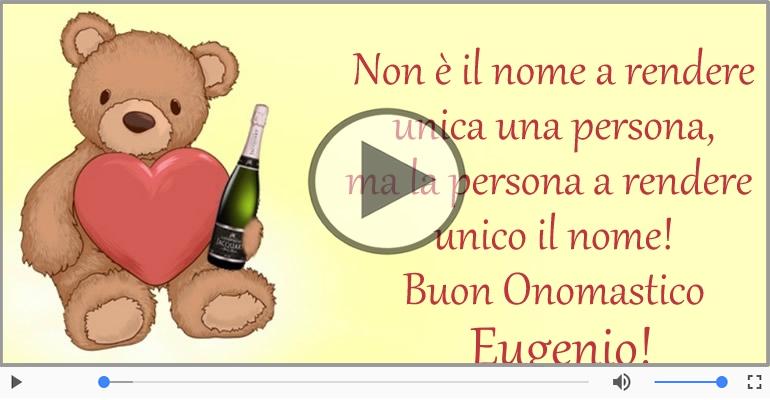 Cartoline musicali di onomastico - Auguri Eugenio! Buon Onomastico!