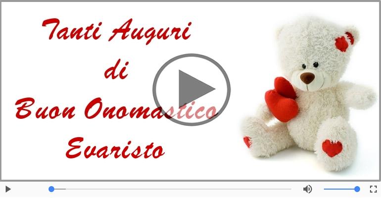 Cartoline musicali di onomastico - Tantissimi Auguri di Buon Onomastico Evaristo!