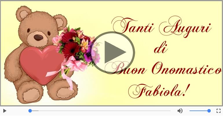 Cartoline musicali di onomastico - Auguri Fabiola! Buon Onomastico!