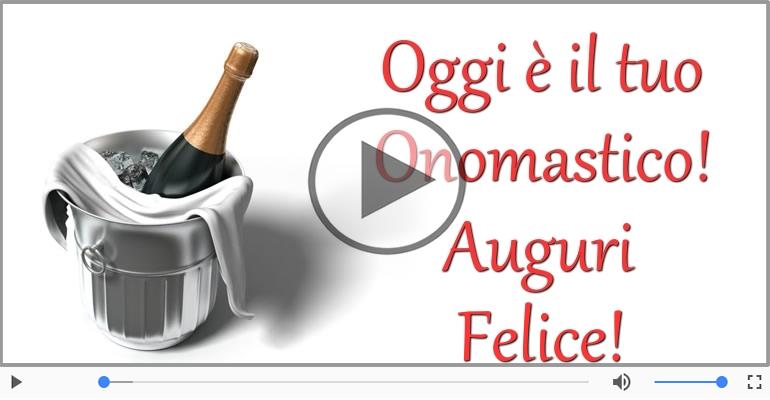 Cartoline musicali di onomastico - Tanti auguri di Buon Onomastico Felice!