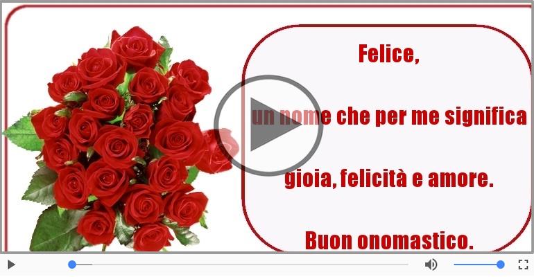 Cartoline musicali di onomastico - Auguri Felice! Buon Onomastico!
