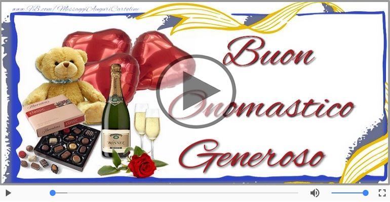 Cartoline musicali di onomastico - Auguri Generoso! Buon Onomastico!