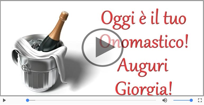 Cartoline musicali di onomastico - Buon onomastico, Giorgia!
