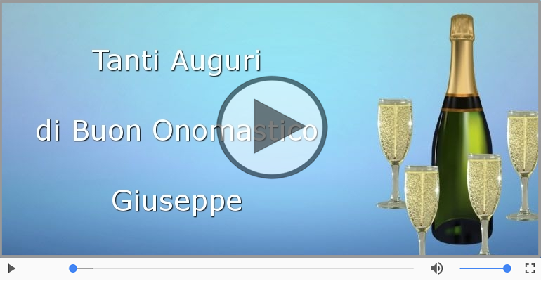 Cartoline musicali di onomastico - Tantissimi Auguri di Buon Onomastico Giuseppe!