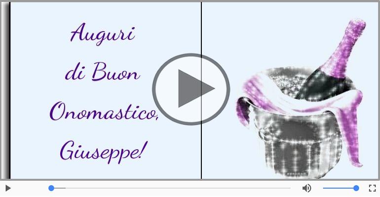 Cartoline musicali di onomastico - Tanti auguri di Buon Onomastico Giuseppe!