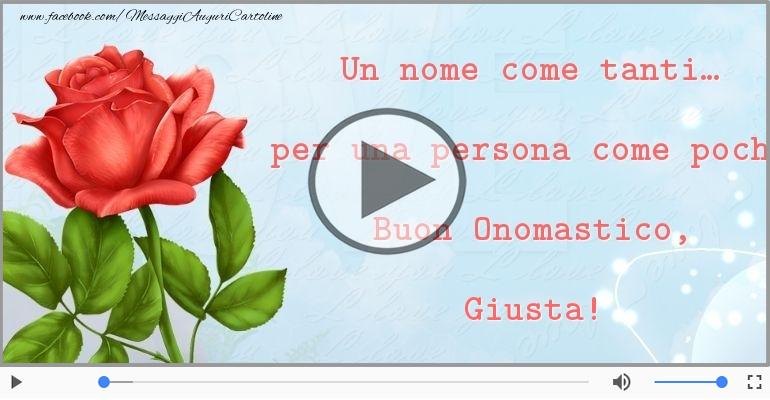 Cartoline musicali di onomastico - Auguri Giusta! Buon Onomastico!