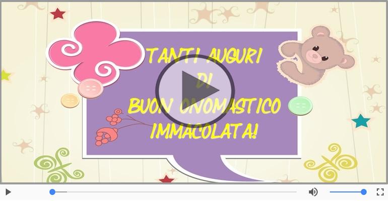 Favorito Cartoline musicali con il nome Immacolata | Onomastico  NF88