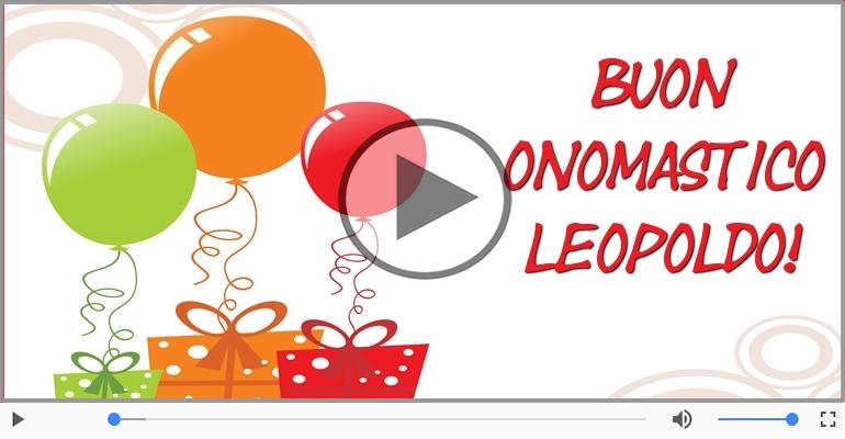 Cartoline musicali di onomastico - Buon Onomastico Leopoldo!