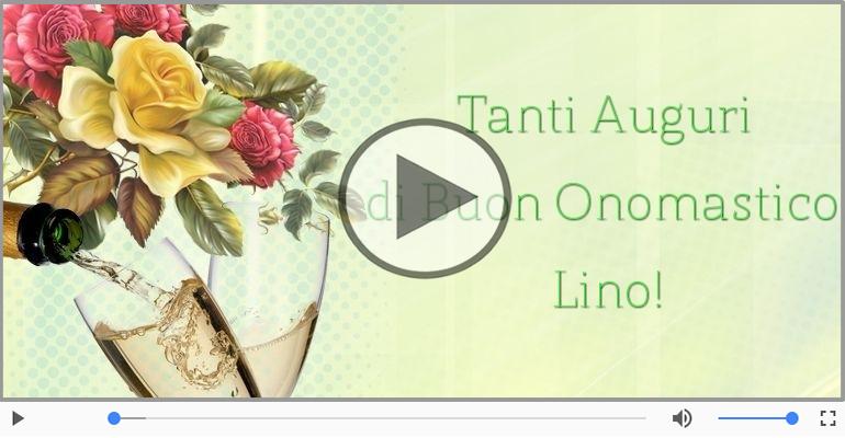 Cartoline musicali di onomastico - Auguri Lino! Buon Onomastico!