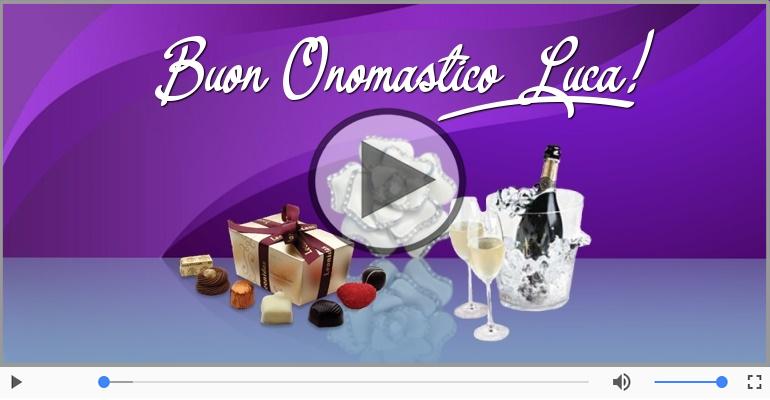 Cartoline musicali di onomastico - Auguri Luca! Buon Onomastico!