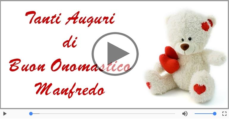 Cartoline musicali di onomastico - Buon Onomastico Manfredo!