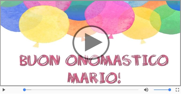 spesso Cartoline musicali con il nome Mario | Onomastico  DN95