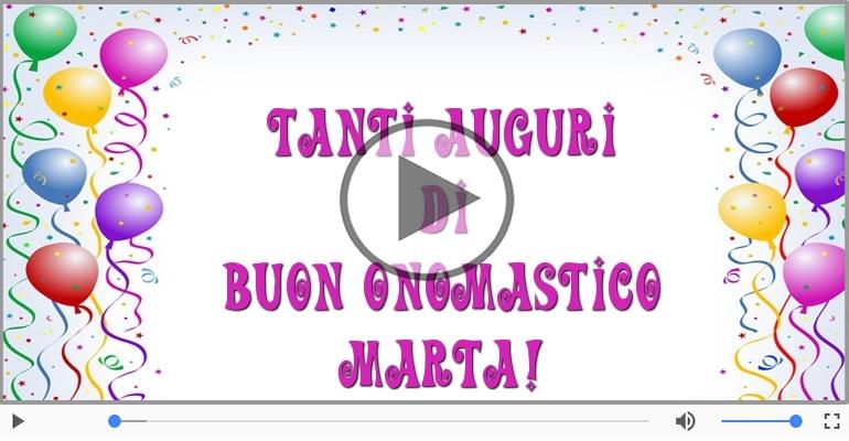 Cartoline musicali di onomastico - Auguri Marta! Buon Onomastico!