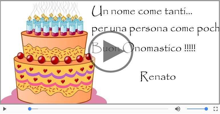 Cartoline musicali di onomastico - Tanti auguri di Buon Onomastico Renato!