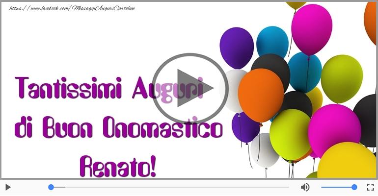 Cartoline musicali di onomastico - Buon Onomastico Renato!