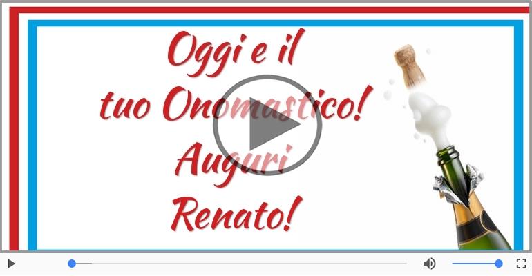 Cartoline musicali di onomastico - Auguri Renato! Buon Onomastico!