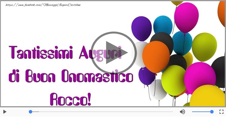 Cartoline musicali di onomastico - Buon Onomastico Rocco!