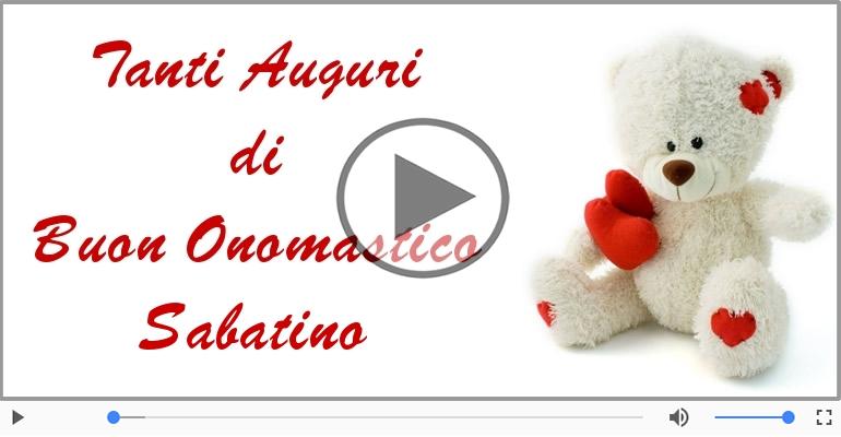 Cartoline musicali di onomastico - Tantissimi Auguri di Buon Onomastico Sabatino!