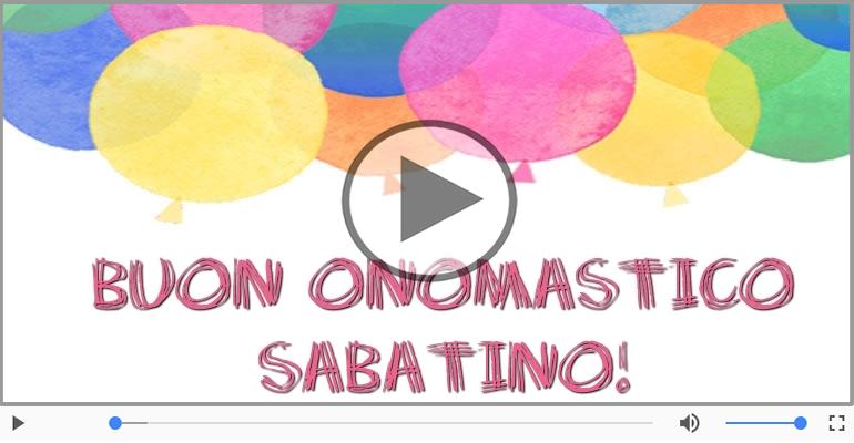 Cartoline musicali di onomastico - Tanti auguri di Buon Onomastico Sabatino!