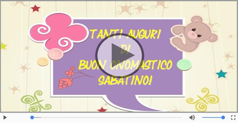 Cartoline musicali di onomastico - Buon Onomastico Sabatino!