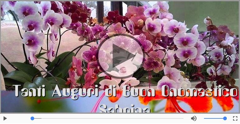 Cartoline musicali di onomastico - Tantissimi Auguri di Buon Onomastico Sabrina!