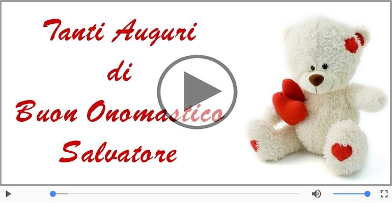 Cartoline musicali di onomastico - Buon Onomastico Salvatore!