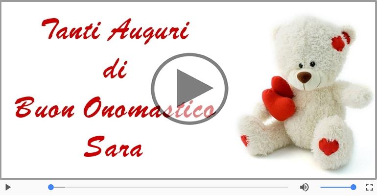 Cartoline musicali di onomastico - Tantissimi Auguri di Buon Onomastico Sara!
