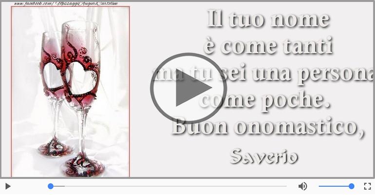 Cartoline musicali di onomastico - Tantissimi Auguri di Buon Onomastico Saverio!
