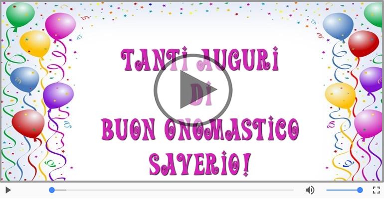 Cartoline musicali di onomastico - Tanti auguri di Buon Onomastico Saverio!