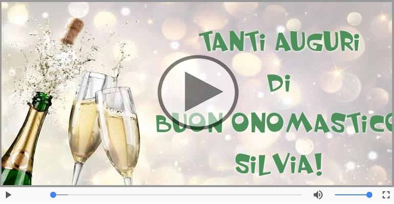 Cartoline musicali di onomastico - Auguri Silvia! Buon Onomastico!