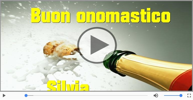 Cartoline musicali di onomastico - Buon Onomastico Silvia!