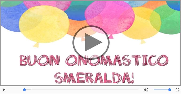 Cartoline musicali di onomastico - Buon Onomastico Smeralda!