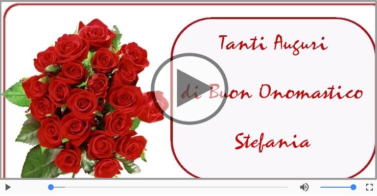 Cartoline musicali di onomastico - Buon Onomastico Stefania!