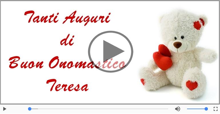 Bien connu Buon Onomastico Teresa! | Tanti auguri a te! | Cartoline musicali  AX67