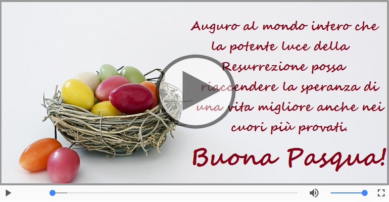 Cartoline musicali di pasqua - Tanti auguri di buona Pasqua