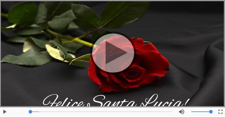 Cartoline musicali di Santa Lucia - Questa é la notte di Santa Lucia senti nell'aria la sua magia.