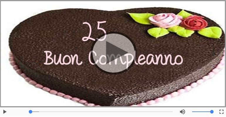 Famoso 25 anni Buon Compleanno! | Tanti auguri - Tradizionale | Cartoline IM33